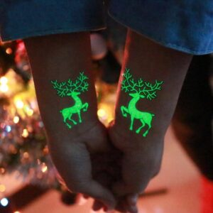 1 Pcs Luminous Temporary Tattoo Stickers | Christmas Party Decor | All For Xmas