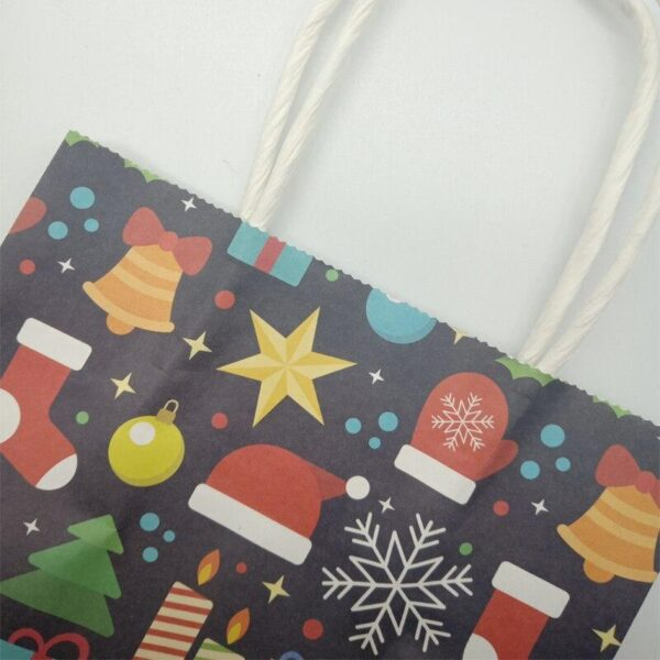10pcs Christmas Small Paper Mixed Design Gift Bags | Gift Decor | All For Xmas