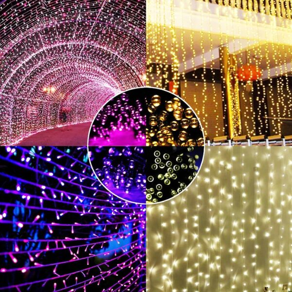 100 Or 200 LED Solar String Fairy Lights Waterproof | Outdoor Lighting | All For Xmas