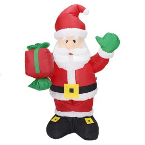 1.3M-4.4FT Inflatable Giant Santa Claus With Gift Box LED Lighted | Outdoor Decor | All For Xmas
