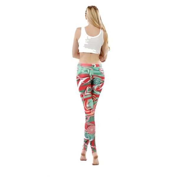 Candy Canes Ugly Christmas Leggings | Christmas Apparel | All For Xmas