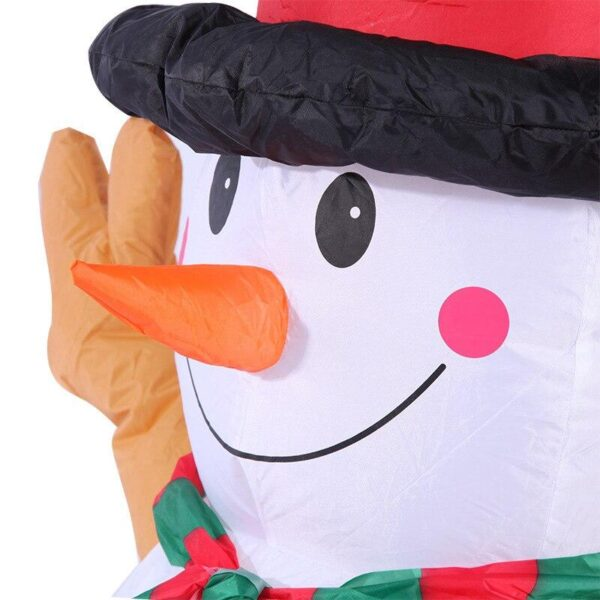 1.6M-5.2FT Inflatable Giant Snowman LED Lighted   Outdoor Christmas Decor   All For Xmas