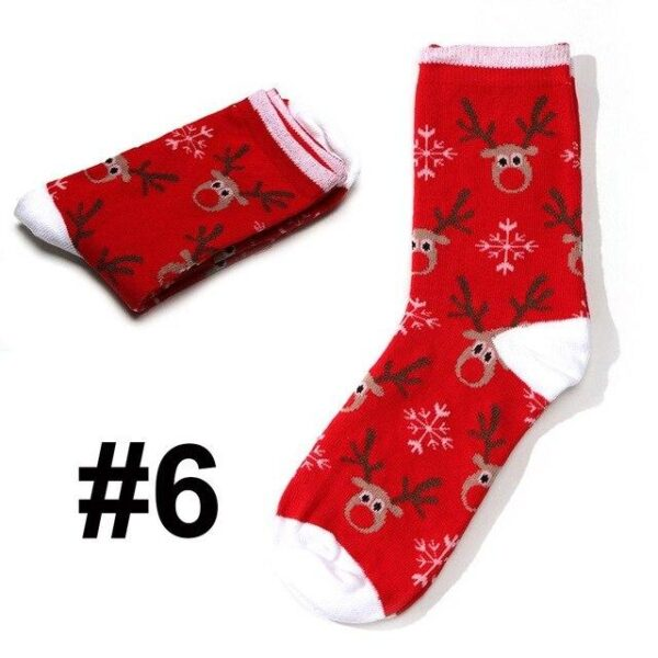 Colorful Cotton Blend Short Traditional Christmas Socks | Christmas Apparel | All For Xmas