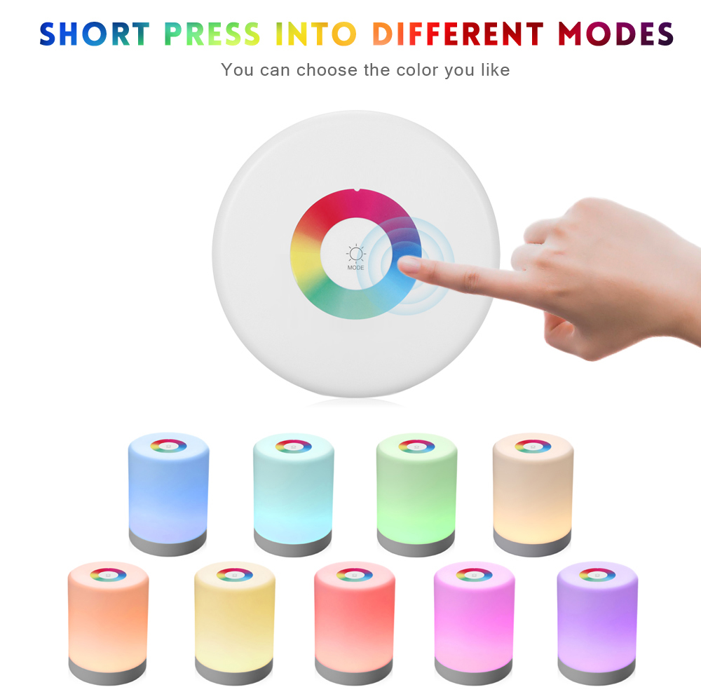 Lightme Intelligent Touch Night Light Induction Dimmer Hook Colorful Lamp