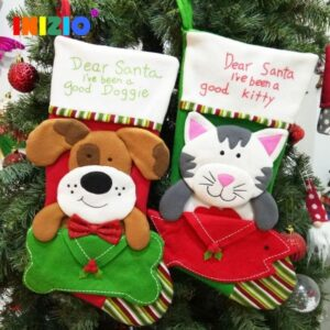 Christmas Cat And Dog Cloth Stockings | Home Decor | All For Xmas