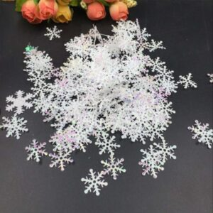 300PCS White Fake Snowflakes | Christmas Decor | All For Xmas