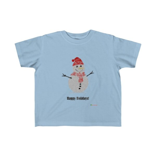 Toddler T-Shirt | Snowman - Happy Holidays | Many Colors | Christmas Apparel | All For Xmas