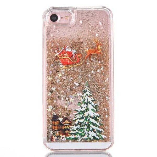 Christmas Glitter Hardcover Case For iPhone X 7 8 Plus | Christmas Accessories | All For Xmas