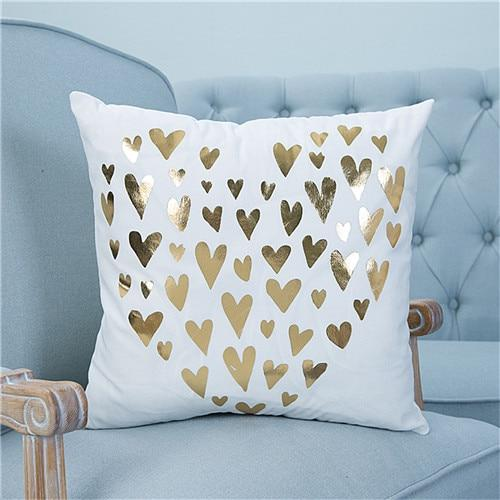 Bronze Gold Christmas Holiday Pillow Covers | Decorative Cushion | Home Decor | All For Xmas