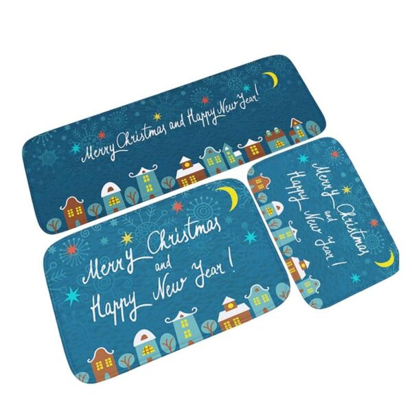 3PCS Christmas - Non-Slip Doormat Kitchen Bathroom Rug - Different Designs | Home Decor | All For Xmas