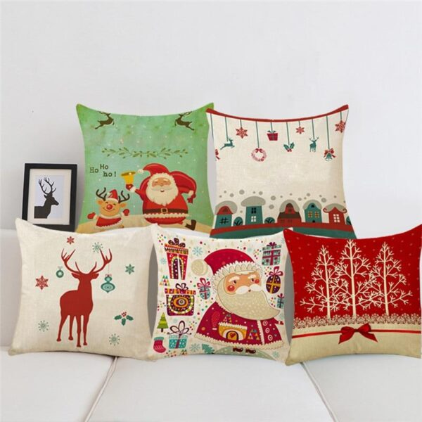 Funny Christmas Cotton Linen Pillow Case Cushion Cover | Home Decor | All For Xmas