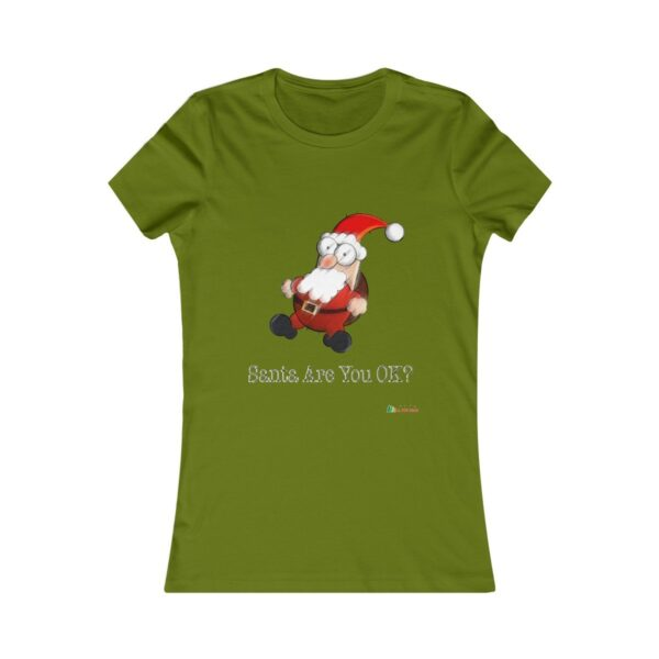 T-Shirt | Santa Are You OK Women Cotton Tee | Christmas Apparel | All For Xmas