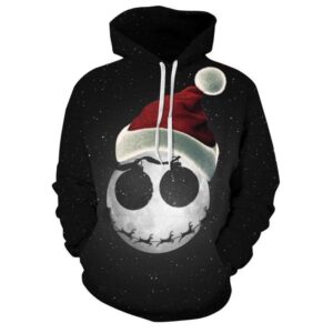 Allover Print Christmas Hoodie - Scary Santa | Christmas Apparel | All For Xmas