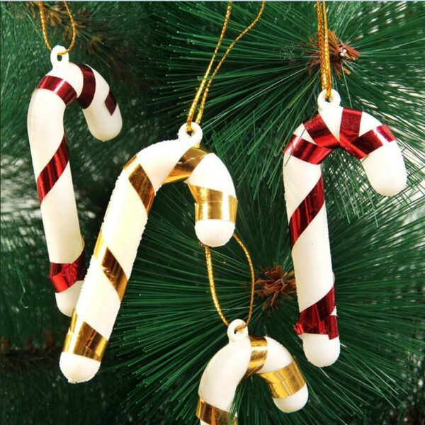 6 Pcs Christmas Candy Cane Ornaments | Tree Decorations | All For Xmas