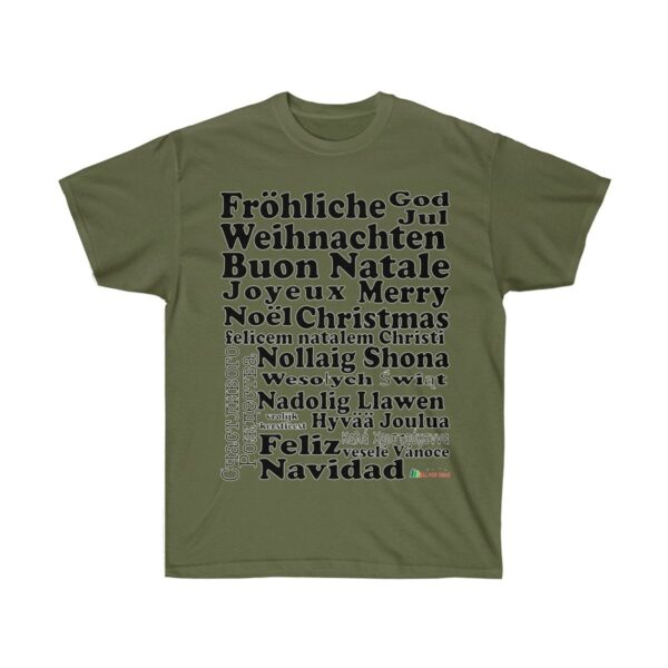 T-Shirt | Merry Christmas Unisex Ultra Cotton Tee | Multiple Colors | Christmas Apparel | All For Xmas