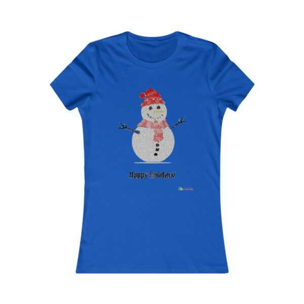 T-Shirt | Snowman - Happy Holidays Women Cotton Tee | Multiple Colors | Christmas Apparel | All For Xmas