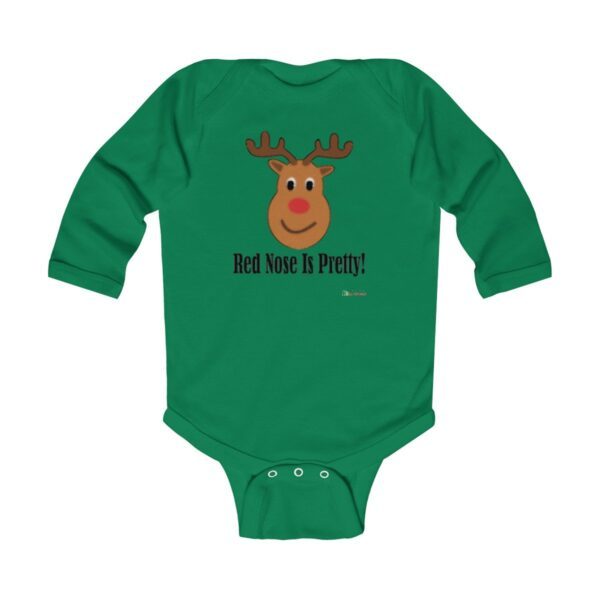 Baby Long Sleeve Bodysuit | Red Nose Is Pretty | Christmas Apparel | All For Xmas