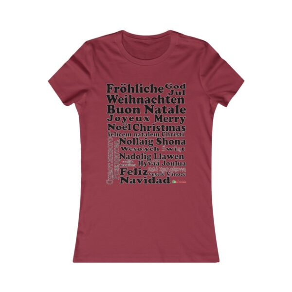T-Shirt | Merry Christmas Women Cotton Tee | Multiple Colors | Christmas Apparel | All For Xmas