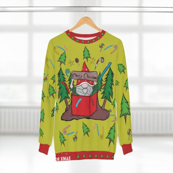 Santa In A Box - Ugly Christmas Sweater Printed Pullover