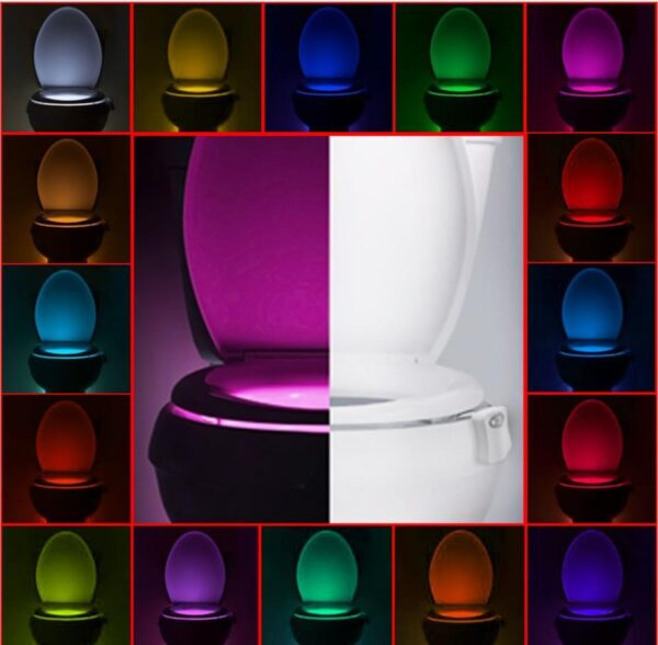 16 Colors Bathroom Toilet LED Light | Motion Sensor WC Backlight | Bathroom Decor | All For Xmas
