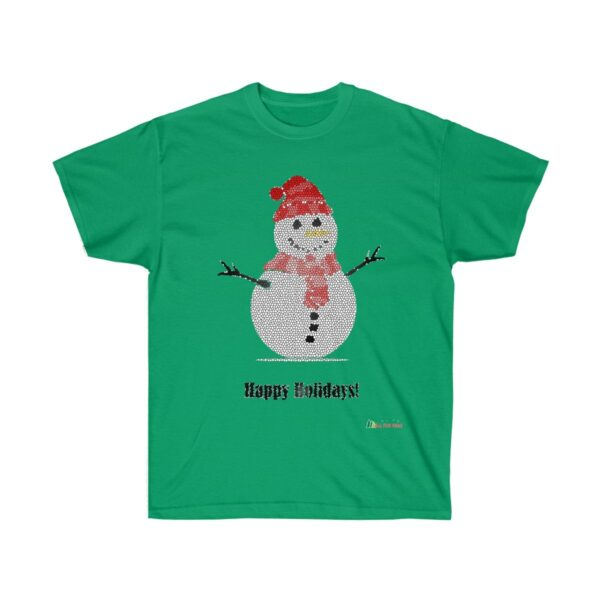 T-Shirt | Snowman - Happy Holidays Unisex Ultra Cotton Tee | Christmas Apparel | All For Xmas