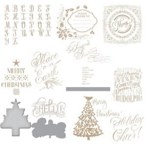 Alphabet Christmas DIY  Metal Die Cut | Gifts For Christmas | All For Xmas