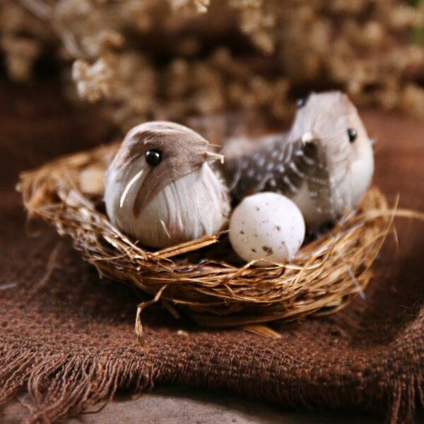 Mini Decorative Bird Nest | Christmas Village Decoration | All For Xmas