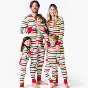 Christmas Family Matching Pajamas - Holiday Stripes | Christmas Apparel | All For Xmas