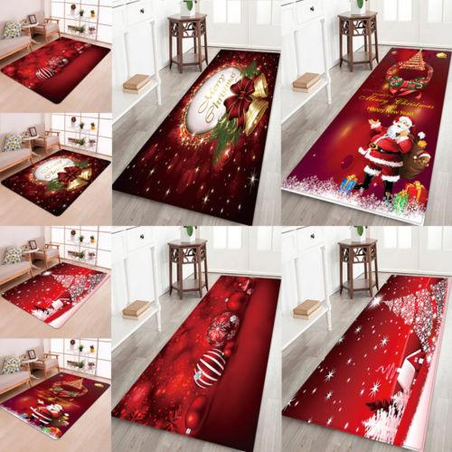 Christmas Decorative Flannel Area Rug Non-Slip Carpet | Home Decor | All For Xmas