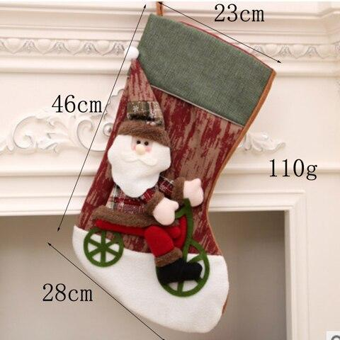 Christmas Traditional Cloth Stocking - 38 Designs | Home Decor | All For Xmas