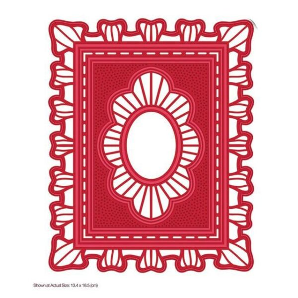 Square Christmas Greeting Patterns Metal Cutting Dies | DIY Scrapbooking | All For Xmas