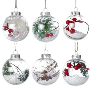 Christmas Tree Ball Decorations | Xmas Pendant Hanging Ball Ornaments | All For Xmas