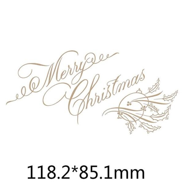 Merry Christmas Happy Holidays Metal Cutting Die | DIY Scrapbooking | All For Xmas