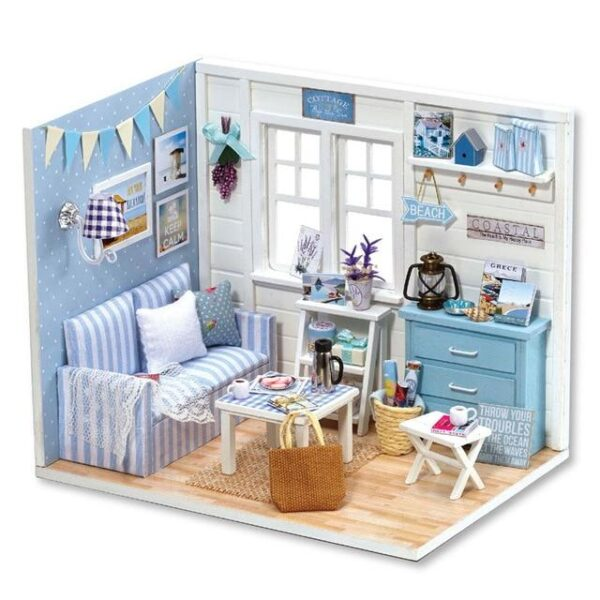 Miniature DIY DollHouse With Furnitures   Christmas Gifts   All For Xmas