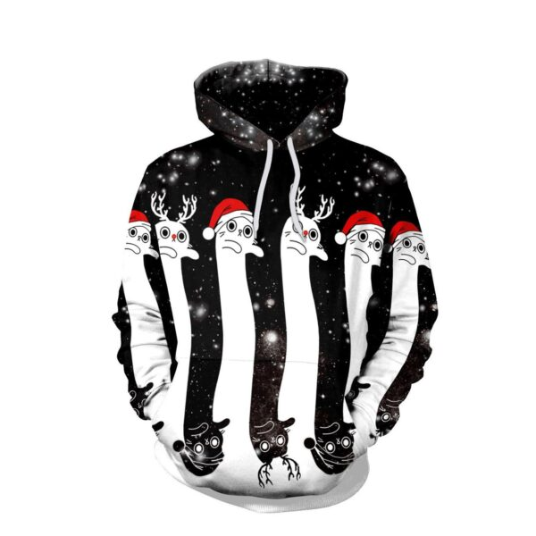 Allover Print Christmas Hoodie - Cute Ghosts | Christmas Apparel | All For Xmas