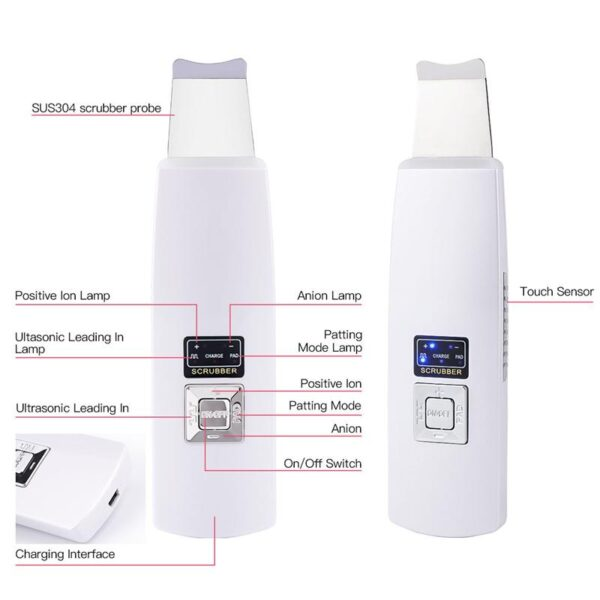 Ultrasonic Face Deep Cleaning Machine   Skin Scrubber Remover Reduce Wrinkles and Face Lifting   All For Xmas
