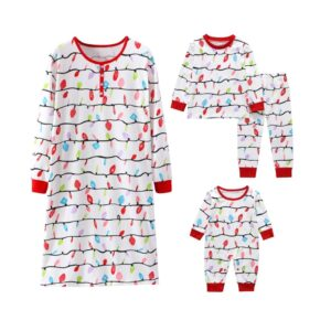 Christmas Family Matching Pajamas - Christmas Lights | Christmas Apparel | All For Xmas