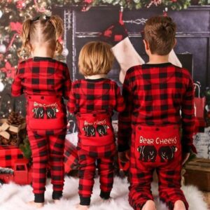 Christmas Family Matching Pajamas - Red Black Plaid | Christmas Apparel | All For Xmas