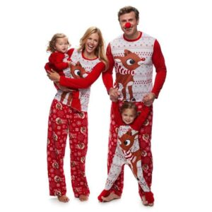 Christmas Family Matching Pajamas - Baby Rudolph | Christmas Apparel | All For Xmas
