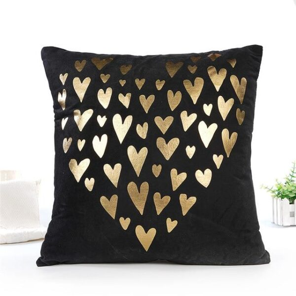 Black White Gold Christmas Cotton Blend Pillow Case Cushion Cover - Multiple Designs | Home Decor | All For Xmas