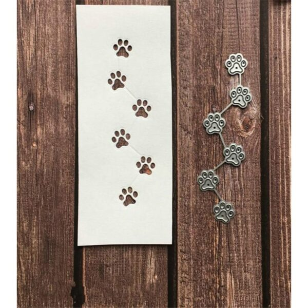 Dog Paws Foot Prints DIY Die Cut   Gifts For Christmas   All For Xmas