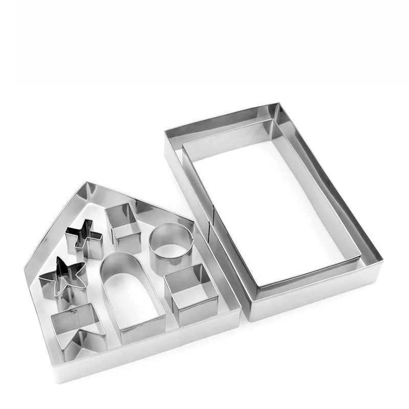 10pcs-New-3D-Gingerbread-house-Stainless-Steel-Christmas-Scenario-Cookie-Cutters-Set-Biscuit-Mold-Fondant-Cutter