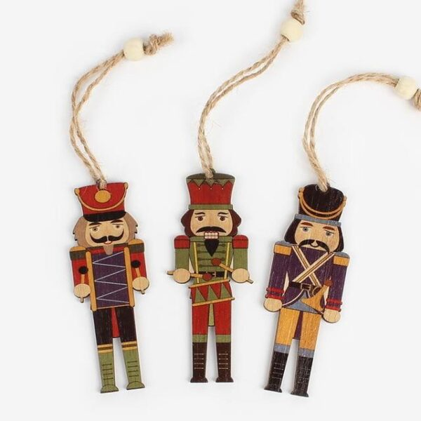3Pcs wooden Nutcracker soldier Christmas decoration | All For Xmas