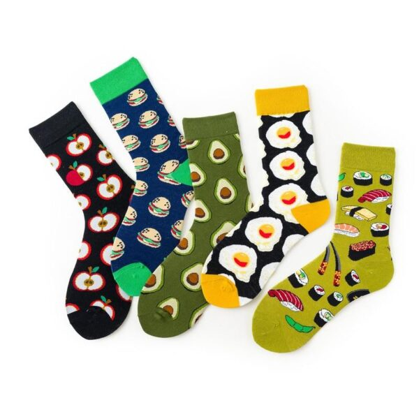 Funny Food Combed Cotton Socks - One Size | Christmas Apparel | All For Xmas