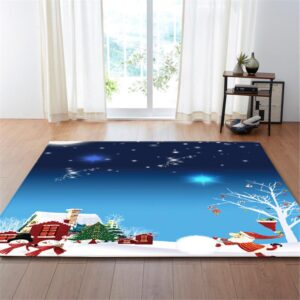 Christmas  Decorative Microfiber Area Rug Carpet - Different Designs | Home Decor | All For Xmas