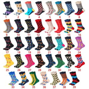 Colorful Cotton Blend Medium Length Men Socks - One Size | Christmas Apparel | All For Xmas
