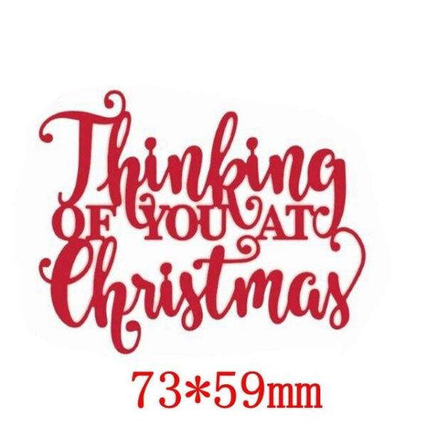 Christmas Greetings Words - DIY Die Cut | Gifts For Christmas | All For Xmas