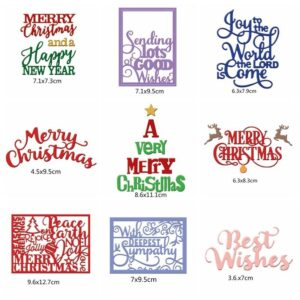 Christmas Greeting Wishes Metal Cutting Dies | DIY Scrapbooking | All For Xmas