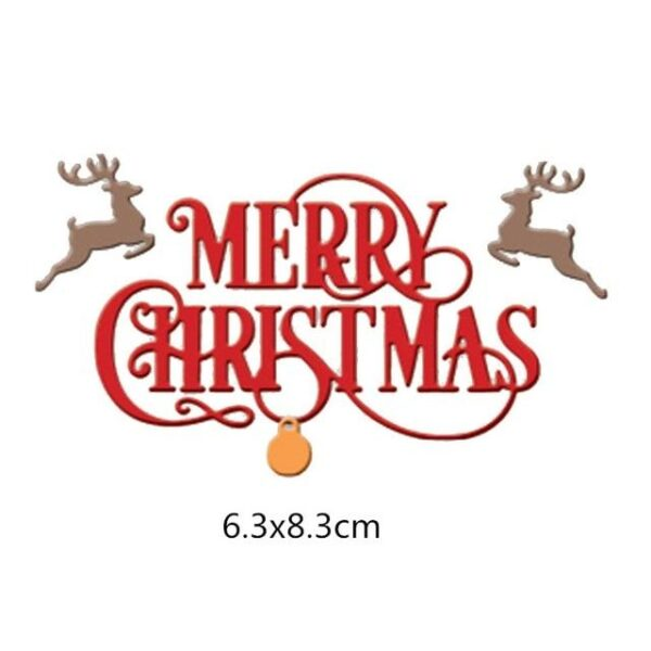 Christmas Greeting Wishes Metal Cutting Dies   DIY Scrapbooking   All For Xmas