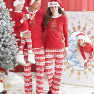 Christmas Family Matching Pajamas - Red Christmas Tree | Christmas Apparel | All For Xmas